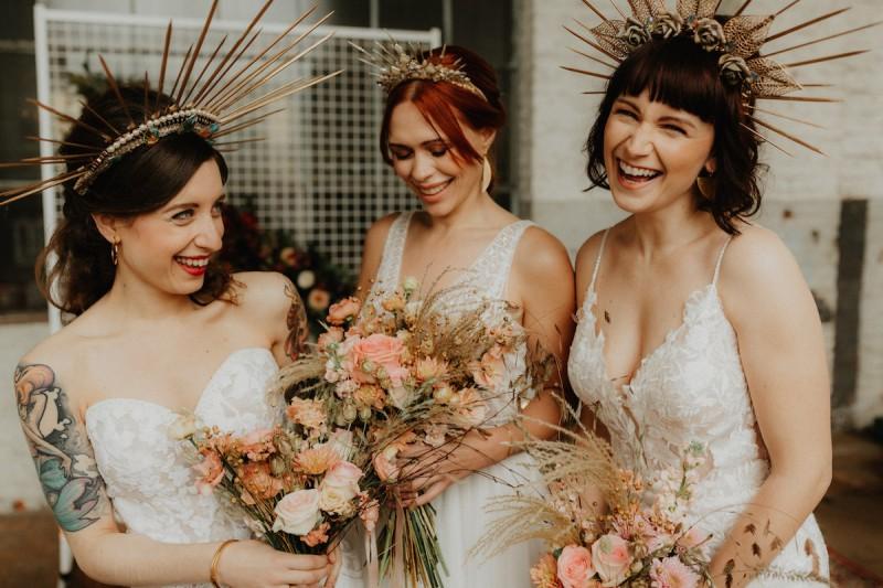 Bohemian stoer en Industrieel romantisch, twee prachtige wedding shoots met een eigenzinnige twist